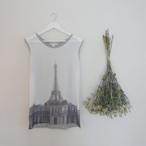 Tops - Paris Graphic Blouse